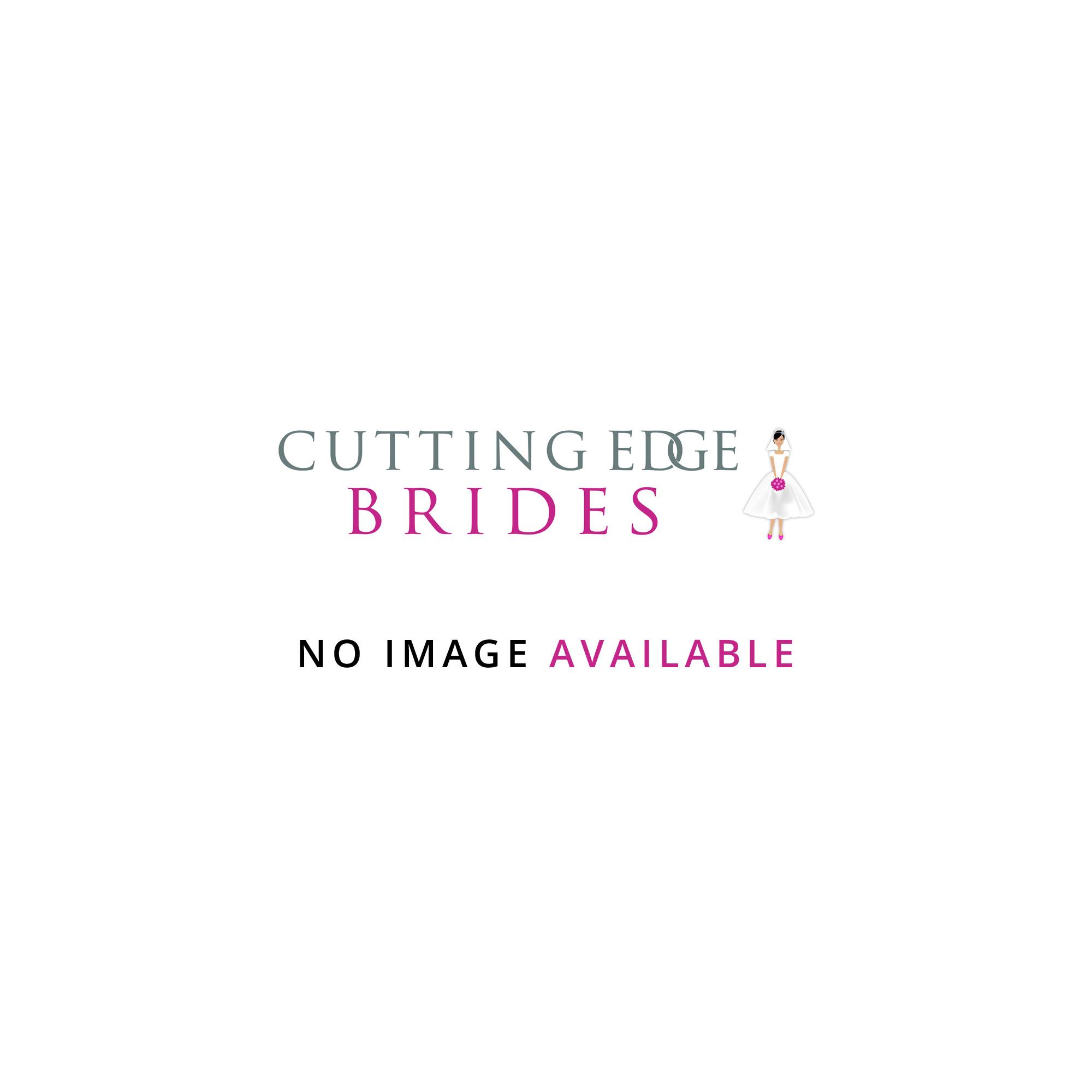 Gillian tea length lace wedding dress with long sleeves by for Tea length lace wedding dress with sleeves