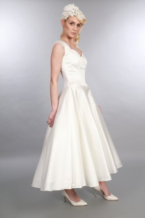 IVY 1950s Tea Calf Length 1950s Vintage Wedding Dress