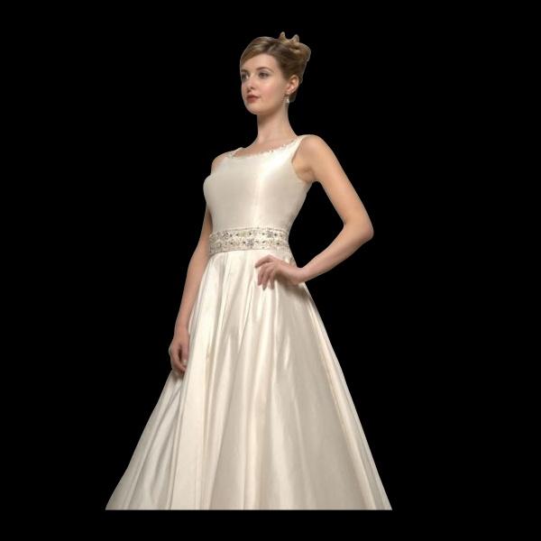 Fiona Tea Length Silk Wedding Dress By White Rose Style R649
