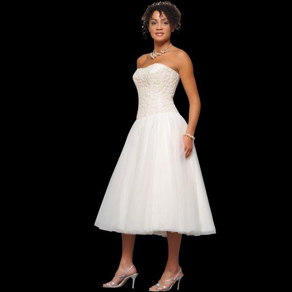 Vintage Wedding Dresses Brighton: Holly Tea Length Vintage Style Wedding Dress With Pearl