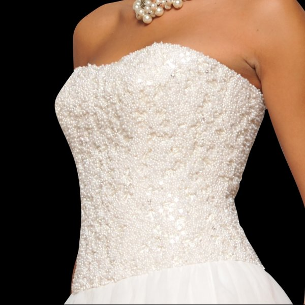 Wedding Dress with Pearls